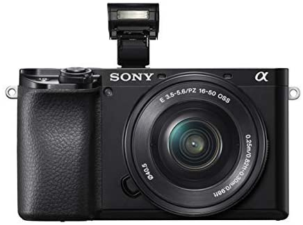 41st2EnmYIL. AC  - Sony Alpha 6100 Mirrorless APS-C Camera with 16-50 mm Power Zoom Lens - 0.02-Seconds Fast AF, Real-Time Eye AF for Human and Animal, 4K Video and Flip Screen