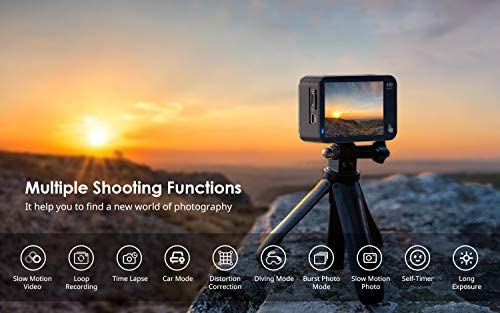 41vxlv3bskL. AC  - COOAU Native 4K 60fps 20MP Touch Screen WiFi Action Sport Camera EIS Stabilization Underwater Waterproof Cam with External Microphone Remote Control 2x1350Amh Batteries