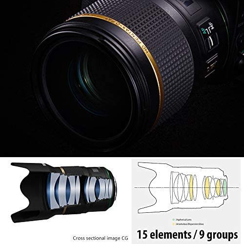 51++a14dS9L. AC  - HD PENTAX-D FA50mmF1.4 SDM AW Single-focus standard lens New-generation, Star-series lens Extra-sharp, high-contrast images Free of flare and ghost images, Black