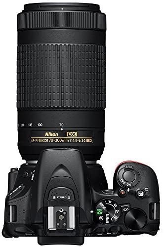 510nQGIuSPL. AC  - Nikon D5600 DSLR Wi-Fi Digital SLR Camera with Double Zoom 2 Lens Kit AF-P 18-55mm VR & 70-300mm ED + 0.43x Wide Angle Lens + Lens + Case + 1 Year Extended Protection Plan and Accessory Bundle