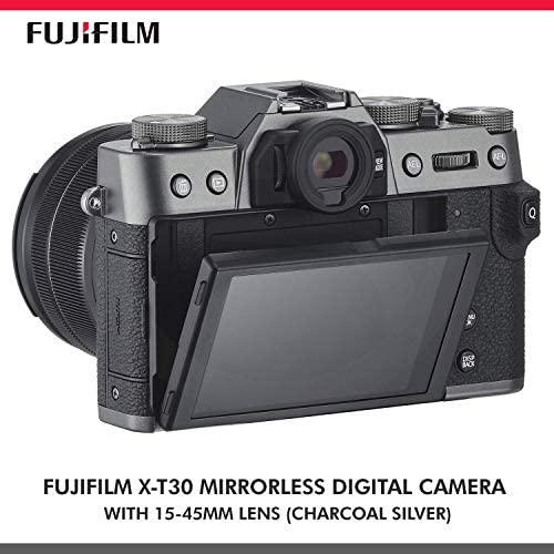 515sNUgLJJL. AC  - Fujifilm X-T30 4K Wi-Fi Mirrorless Digital Camera with XC 15-45mm Lens Kit - Charcoal Silver with 64GB Deluxe Bundle and Travel Photo Cleaning Kit