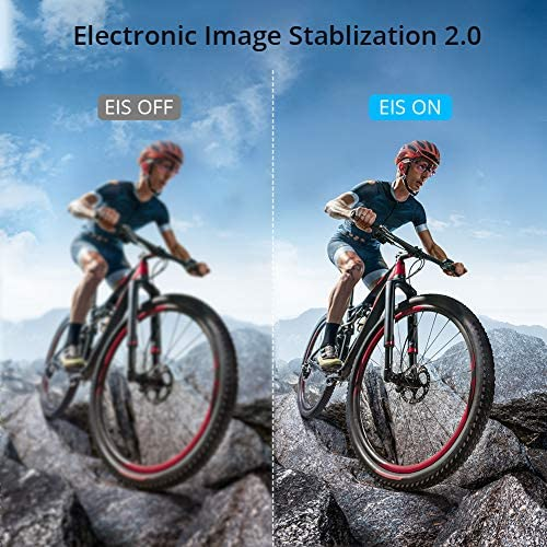 519gD+UazhL. AC  - AKASO Brave 6 Plus Native 4K30FPS 20MP WiFi Action Camera with Touch Screen EIS 8X Zoom Voice Control Remote Control 131 Feet Underwater Camera with 2X 1350mAh Batteries and Helmet Accessories Kit