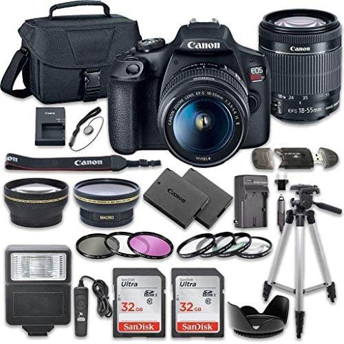 51C1ZLCf7tL. AC  - Canon EOS Rebel T7 DSLR Camera Bundle with Canon EF-S 18-55mm f/3.5-5.6 is II Lens + 2pc SanDisk 32GB Memory Cards + Accessory Kit