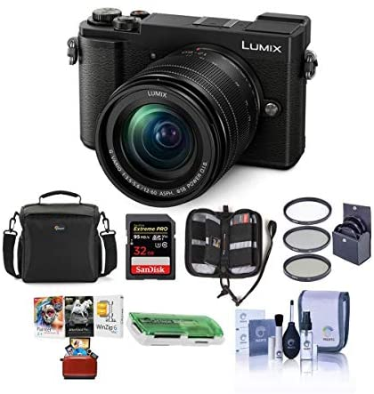 51GDtARvPlL. AC  - Panasonic Lumix DC-GX9 20.3MP Mirrorless Camera with 12-60mm F3.5-5.6 Lens, Black - Bundle with Camera Bag, 32GB SDHC U3 Card, Cleaning Kit, Card Reader, 58mm Filter Kit, Mac Software Package and More