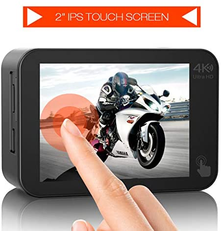51PYq1NhAIL. AC  - Campark V30 Native 4K Action Camera 20MP EIS Touch Screen WiFi Waterproof PC Webcam with Optional View Angle, 2 1350mAh Batteries and Mounting Accessories Kit