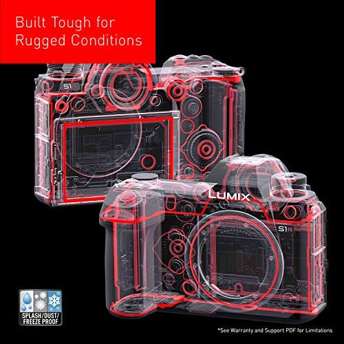 """51TRoPLEoEL. AC  - Panasonic LUMIX S1R Full Frame Mirrorless Camera with 47.3MP MOS High Resolution Sensor, L-Mount Lens Compatible, 4K HDR Video and 3.2"""" LCD - DC-S1RBODY"""