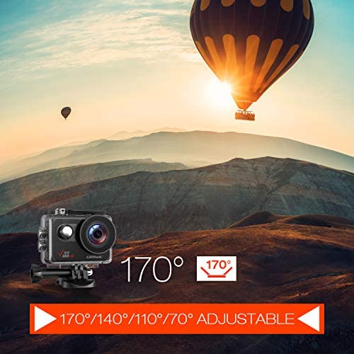 51VL5+HSPSL. AC  - Campark V30 Native 4K Action Camera 20MP EIS Touch Screen WiFi Waterproof PC Webcam with Optional View Angle, 2 1350mAh Batteries and Mounting Accessories Kit