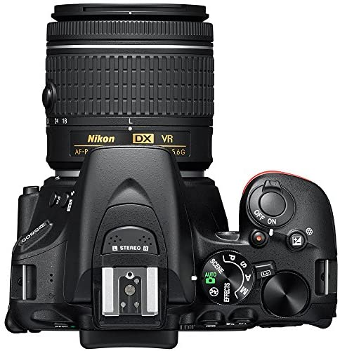 51bpknhSuIL. AC  - Nikon D5600 DSLR Wi-Fi Digital SLR Camera with Double Zoom 2 Lens Kit AF-P 18-55mm VR & 70-300mm ED + 0.43x Wide Angle Lens + Lens + Case + 1 Year Extended Protection Plan and Accessory Bundle