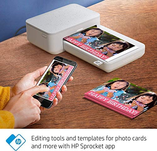 """51vqwvyfrsL. AC  - HP Sprocket Studio 4x6"""" Instant Photo Printer – Print Photos from Your iOS, Android Devices & Social Media"""