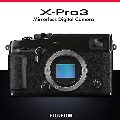 51wRq 3dTLL. AC  - FUJIFILM X-Pro3 Mirrorless Digital Camera (Black) + Camera Bag, 64GB Memory Card, Xpix Memory Card Case, Xpix Camera Shoulder Strap with Quick Release & Xpix Deluxe Cleaning Accessories