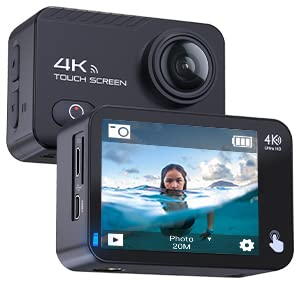 ba16e4fe f29d 4e4b b16f fe8873556089.  CR0,50,300,300 PT0 SX300 V1    - COOAU Native 4K 60fps 20MP Touch Screen WiFi Action Sport Camera EIS Stabilization Underwater Waterproof Cam with External Microphone Remote Control 2x1350Amh Batteries