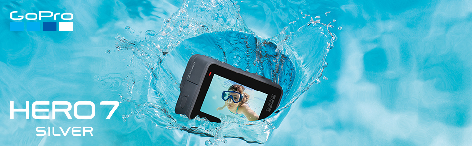 f1f222c9 11fb 49ba a7eb 2b5e73dccd83. CR0,0,970,300 PT0 SX970   - GoPro HERO7 Silver — Waterproof Digital Action Camera with Touch Screen 4K HD Video with Head Strap + QuickClip