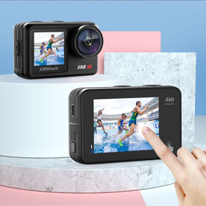 05f1b364 4e60 47f3 8070 faf85f3b3e7b.  CR0,0,300,300 PT0 SX300 V1    - Campark V40 Action Camera Dual Screen 4K/30FPS WiFi Touch Screen EIS Remote Control Vlog Camera 20MP Waterproof Camera 131 Feet Webcam with 2X 1350mAh Batteries and Accessories