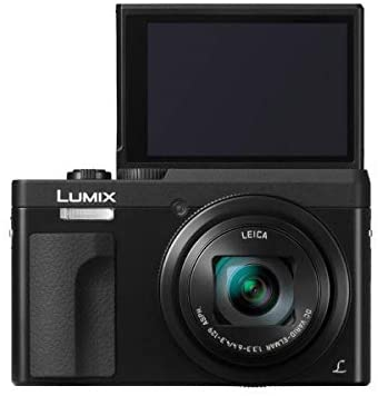 312590Zy1LL. AC  - Panasonic LUMIX DC-ZS70K, 20.3 Megapixel, 4K Digital Camera, Touch Enabled 3-inch 180 Degree Flip-Front Display, 30X Zoom (Black), Bag, 16GB SDCard, Corel PC Software, Cleaning Kit, Card Reader