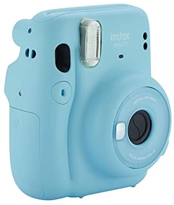 31ROtzy2f0S. AC  - Fujifilm Instax Mini 11 Instant Camera with Case, 60 Fuji Films, Decoration Stickers, Frames, Photo Album and More Accessory kit (Sky Blue)