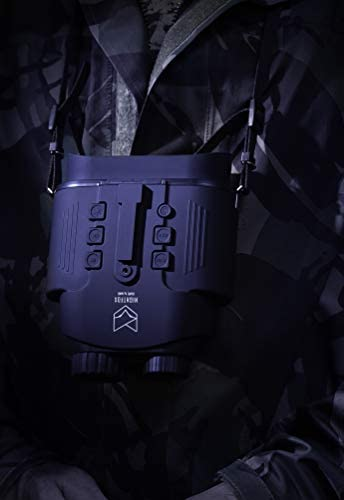 31leRjOmeSL. AC  - Nightfox Cape Night Vision Goggles   1x Magnification   Covert Infrared 940nm   Records Video   55yd Range   Airsoft Ready