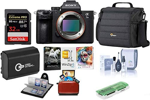 410RnG89XFL. AC  - Sony Alpha a7 III 24MP UHD 4K Mirrorless Digital Camera (Body Only) - Bundle 32GB SDHC U3 Card, Camera Case, Spare Battery, Cleaning Kit, Memory Wallet, Card Reader, Mac Software Package