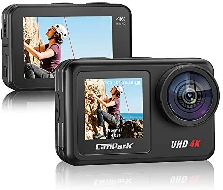 416WcdK5xUL. AC  - Campark V40 Action Camera Dual Screen 4K/30FPS WiFi Touch Screen EIS Remote Control Vlog Camera 20MP Waterproof Camera 131 Feet Webcam with 2X 1350mAh Batteries and Accessories