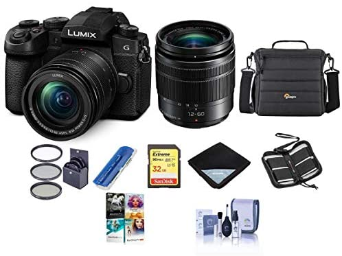 41Hu9nj0w7L. AC  - Panasonic Lumix DC-G95 Mirrorless Camera with 12-60mm f/3.5-5.6 Lumix G Power OIS Lens, Black - Bundle With Camera Case, 32GB SDHC U3 Card, 58mm Filter Kit, Cleaning Kit, PC Software Package, And More