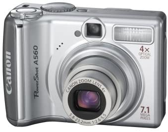 41R0X 1rIbL. AC  - Canon PowerShot A560 7.1MP Digital Camera with 4x Optical Zoom (OLD MODEL)