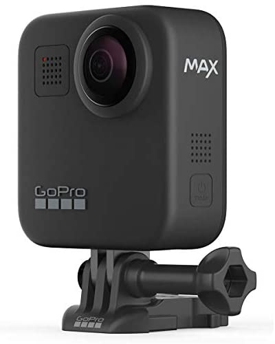 41Y3kFOotCL. AC  - GoPro MAX Waterproof 360 Camera with Touch Screen, 5.6K30 UHD Video 16.6MP Photos 1080p Live Streaming Bundle with Hand Grip, Battery, 32GB microSD Card, Cleaning Kit