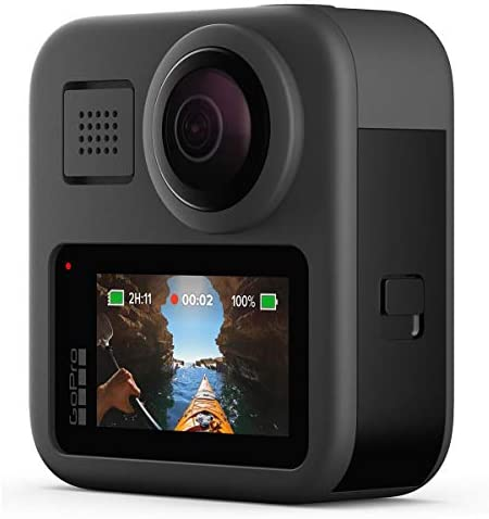 41dfvEWzYWL. AC  - GoPro MAX Waterproof 360 Camera with Touch Screen, 5.6K30 UHD Video 16.6MP Photos 1080p Live Streaming Bundle with Hand Grip, Battery, 32GB microSD Card, Cleaning Kit