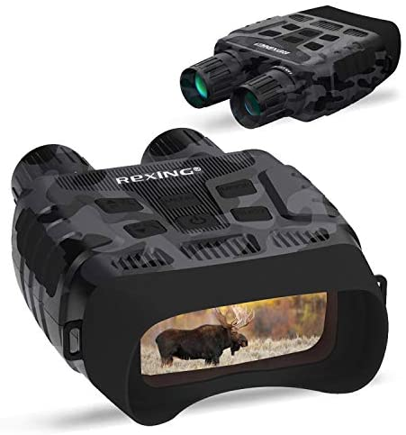 41eITQMAPiL. AC  - Rexing B1 Night Vision Goggles Binoculars with LCD Screen, Infrared (IR) Digital Camera, Dual Photo + Video Recording for Spotting, Hunting, Tracking up to 300 Meters (Camo)