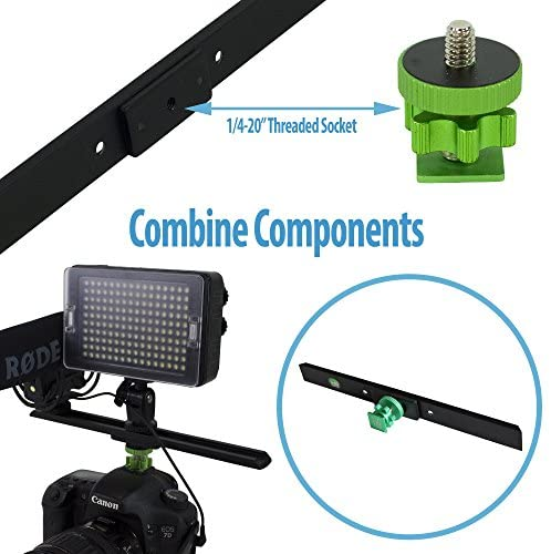 513ZetjUB5L. AC  - Cam Caddie Scorpion EX Video Camera Stabilizing Handle Kit with Included Smartphone and GoPro Compatible Mounts - Professional Bundle - Black