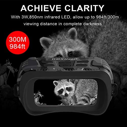 51L9mQSYEEL. AC  - Rexing B1 Night Vision Goggles Binoculars with LCD Screen, Infrared (IR) Digital Camera, Dual Photo + Video Recording for Spotting, Hunting, Tracking up to 300 Meters (Camo)