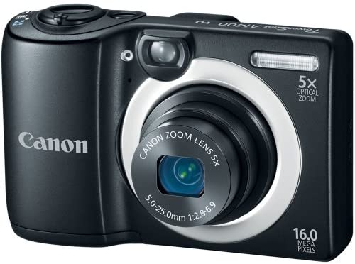 51nLEjGD3jL. AC  - Canon PowerShot A1400 16.0 MP Digital Camera with 5x Digital Image Stabilized Zoom 28mm Wide-Angle Lens and 720p HD Video Recording (Black) (OLD MODEL)