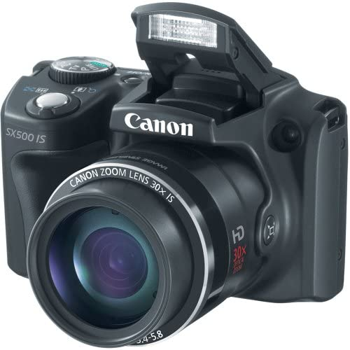 51rB+G584VL. AC  - Canon PowerShot SX500 IS 16.0 MP Digital Camera with 30x Wide-Angle Optical Image Stabilized Zoom and 3.0-Inch LCD (Black) (OLD MODEL)