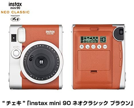 51zkSTs5O0L. AC  - Fujifilm Instax Mini 90 Neo Classic Instant Film Camera (Brown) + Fuji Instax Film Twin Pack (20PK) + Accessories Kit/Bundle + Fitted Case + 4 Filter Lens + Frames + Photo Album + More